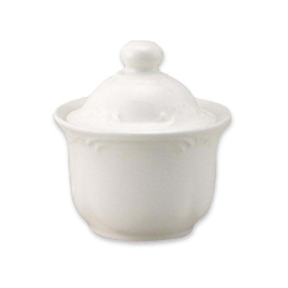 Pfaltzgraff Filigree Sugar Bowl with Lid, White