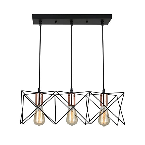 3 Light Pendant Copper