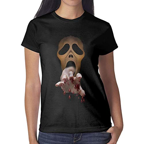 Melinda Scary Spooky Halloween Decorations Young Women Tshirts Halloween Costumes for Women ()