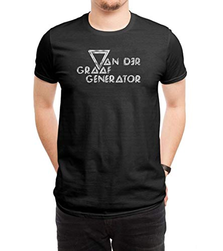 - GAOWEIZHI Men's Van Der Graaf Generator Logo Casual Slim Short Sleeve Tee Shirt Black