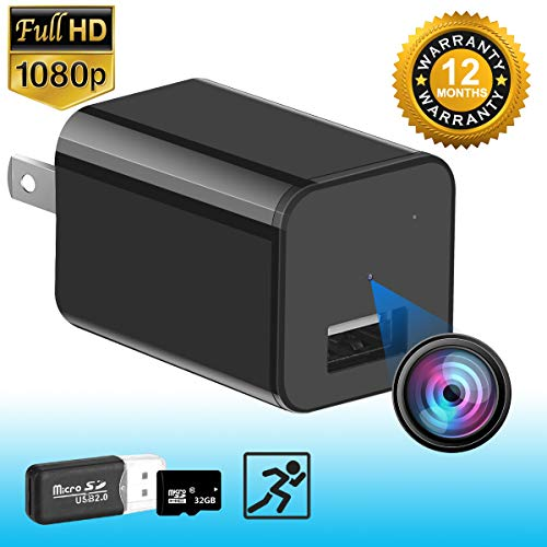 Hidden Camera – HD 1080P – Premium Pack – Motion Detection – USB Hidden Camera – Surveillance Camera – Mini Spy Camera – Nanny Camera – Best Spy Camera Charger – Hidden Camera Charger – Spy Camera