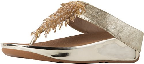 FitFlop Trade; Womens Rumba&Trade; Toe-Thong Sandals, Metallic Gold, Size 9