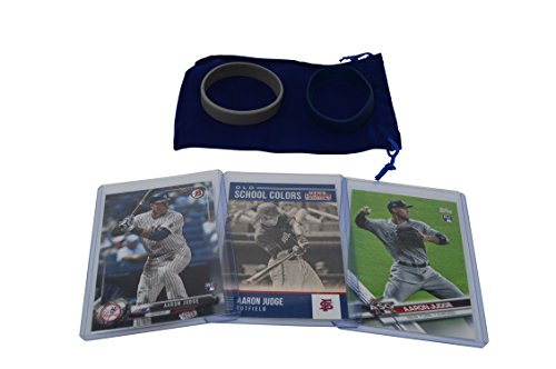 Aaron Judge Cards (3) with 2 Rookie Cards - Assorted New York Yankees Baseball Card Bundle, Collectible Trading (Pic Baseball)