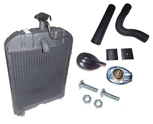 """""""8N8005"""" Fits Ford Tractor Radiato r with Original style Cap, Hoses & Pad 2N 8N 9N [SPECIAL MOUNTING BOLTS & NUTS INCLUDED, COOPER CORE RAD]"""