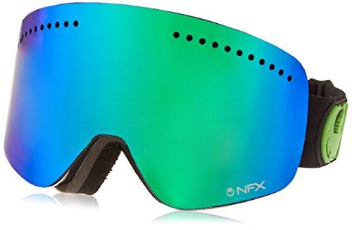Dragon Alliance NFX Ski Goggles, Jet/Green Ion + Yellow Blue - Nfx Dragon
