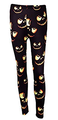 DREAGAL New Halloween Fashion 3D Digital Print Stretchy Leggings Multi-colored S-3X