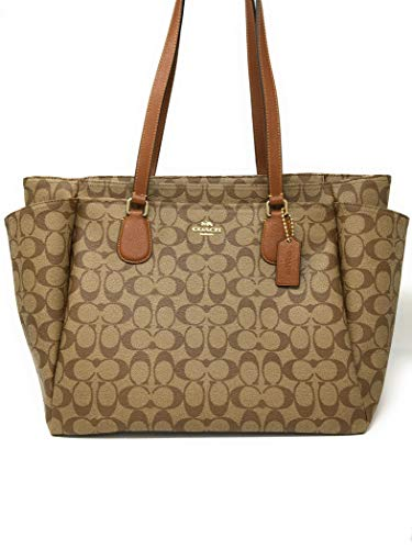 Coach Signature Baby Bag 35414 Khaki (Signature Saddle)