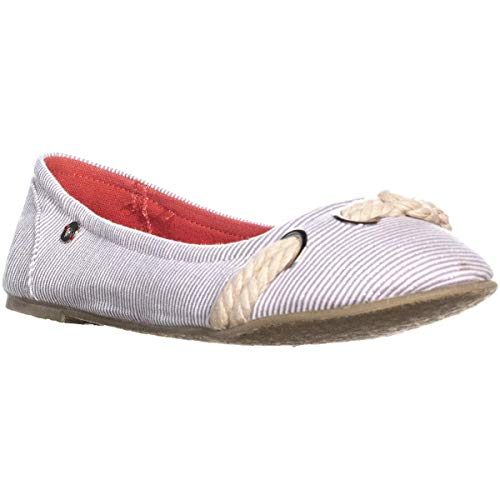 (Roxy Jaimie Slip On Ballet Flats, Gray, 9)