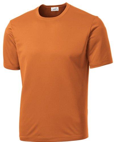 Joe's USA Men's Athletic All Sport Training T-Shirt ,Texas Orange ,Small ()