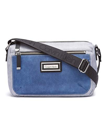 (Calvin Klein Belfast Nylon Key Item Small Crossbody, denim )