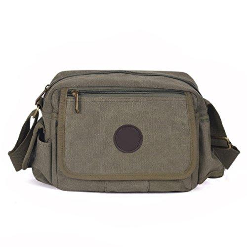 Uomini Tela Di Canapa Dell'annata Spalla Ipad Messenger Tote Scuola Outdoor Il Sacchetto,B-23cm*9cm*18cm