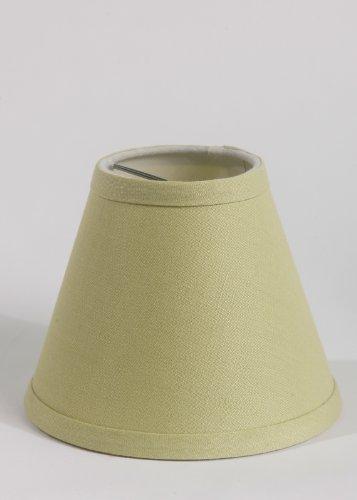 Urbanest Chandelier Pure Linen Shade, Olive Green, 6-inch, C