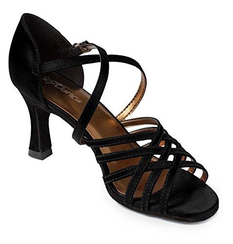 Chaussure Noir Danca Danse de So Black Satiné nbsp;Bout Ouvert Black Piste Bl178 gwxzFqx8