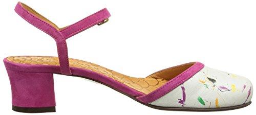 Chie Mihara Teruel - Zapatos de vestir Mujer Mehrfarbig - Multicolore(Rio Leche/Ante Magenta)