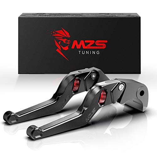 MZS Short Levers Wheel Roller Brake Clutch Adjustment Black for CBR600 CBR 600 F2 F3 F4 F4i CB599 CB600 HORNET CB919 CBR900RR CB750 Magna 750 Shadow 600 1100 VT 600C 750C 1100C VT1300 VTX1300 ()