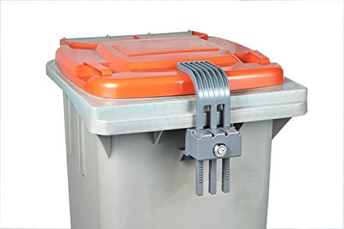 Garbage lock Trash can lid lock Garbage can security bin lock - The smart lock device is used for waste bins, It prevents illegal disposal of food waste & offers protection from animals and insects. ()