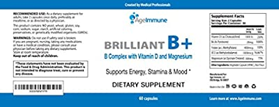 Doctor Formulated Vitamin B Supplements Complex with B12, B6, D, Magnesium and Folate (Folic Acid) - Best Quality in Class for Energy, Neuro Support, Cardiovascular Health for Men and Women