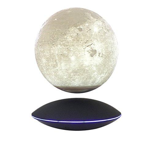 Magnetic Maglev Levitating Levitation 3D Printing Floating Globe Rotating LED Night Light Moon Globe Black UFO Platform Showcase Home Decor Display, by woodlev ()