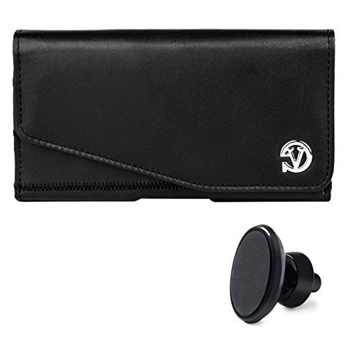 Lightweight Leather Noble Pouch Case with Belt Clip Fits App