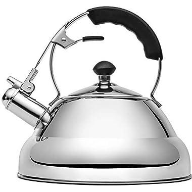 Vescoware Premium Whistling Tea Kettle, Rust Resistant Stainless Steel Teapot - 3 Litres