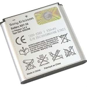 Sony Standard Battery BST-38 - Batería/Pila recargable (40 x 48 x 5 mm, Polímero de litio, Plata, Sony Ericsson phones C510 C902 C905 K770i K850i S312 S500i T303 W580i W760i W902 W980 W995)