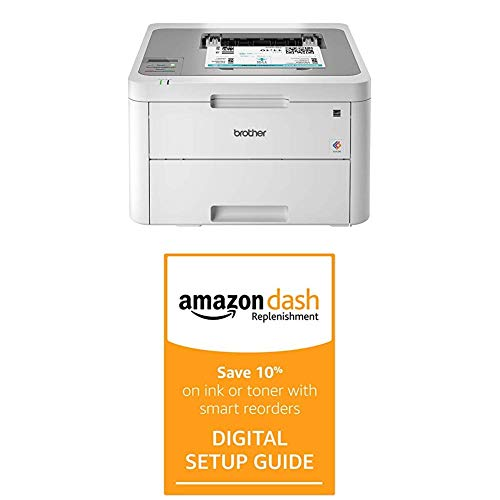 Brother HL-L3210CW Compact Digital Color Printer Providing Laser Printer Quality Results with Wireless and Dash Replenishment Digital Setup Guide
