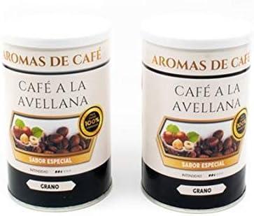 Pack de 2 - Café de Avellana 100% Arábica en Grano - Café en Grano Sabor Avellana - Intensidad Media Suave e Intenso - 2x100 gr: Amazon.es: Alimentación y bebidas