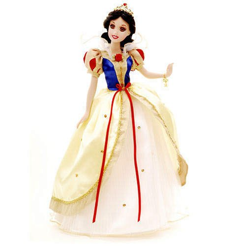 Snow White Enchanted Tales Porcelain Doll with Brass Key Keepsake (Key Brass Keepsakes)