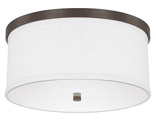Burnished Bronze 3 Light 15.75in. Wide Flush Mount Ceiling Fixture from The Midtown Collection