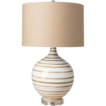 Amazon.com: Surya Tideline lámpara de mesa, Marrón y Beige ...
