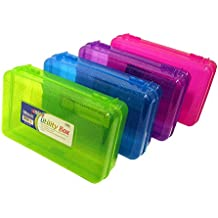"""Set of 4 GLITTER Utility Storage Box for School Supplies or Arts & Crafts 8"""" x 5"""" x 2.5"""""""