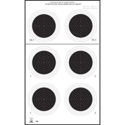 48 Pcs, Official Nra Small Bore Rifle 50-Meter Uit Target (A-50) Printed On Official Nra Heavyweight