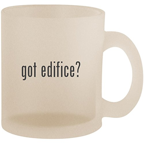 got edifice? - Frosted 10oz Glass Coffee Cup Mug