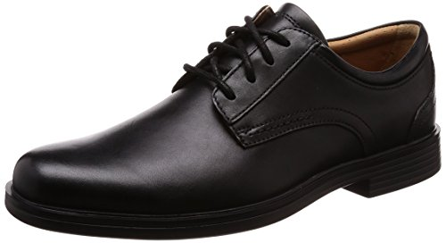 Lace Derby Negro Cordones Black Leather Un para Aldric Hombre de Zapatos Clarks 671qwU