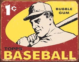 Desperate Enterprises 1959 Topps Baseball Collectible Metal Sign, Model# 1404 , (Baseball Metal Sign)