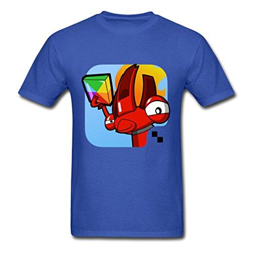 AneSwing Athletic Mixels Cute Flain Royal blue Men T Shirt Large ()
