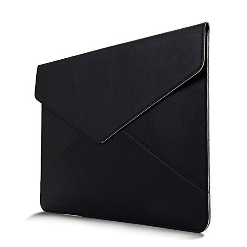 Buwico Macbook Sleeve Ultra Thin laptop Sleeve Cover PU Leather Bag Cover Case Notebook Carrying Bag for 12.9