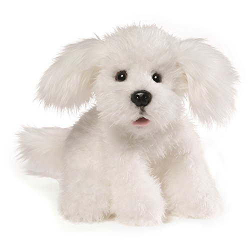 GUND Georgie Dog Stuffed Animal Plush, White, - White Toy Dog Gund