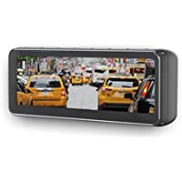 Boyo VTM73FL 7.3 Frameless Rear View Replacement Type Mirror Monitor with 4 Camera, 7.3 inches