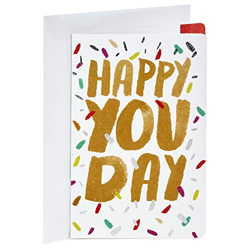 Hallmark Birthday Card, Happy You Day (Personalized Card Sent for You) -