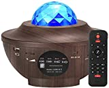 Amouhom Nebula Star Projector Night Light - Bluetooth Music Stage Light with Remote Control Adjustable Brightness, LED Galaxy Projector Mood Light for Ceiling/Bedroom/Party/Birthday/Yoga/Decor/Kids