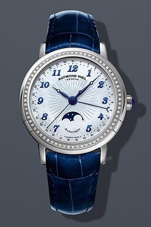 cc2c33860 Raymond Weil 2739-LS3-05909 Maestro Moon Phase ladies Swiss watch Automatic  Movement: Amazon.co.uk: Watches