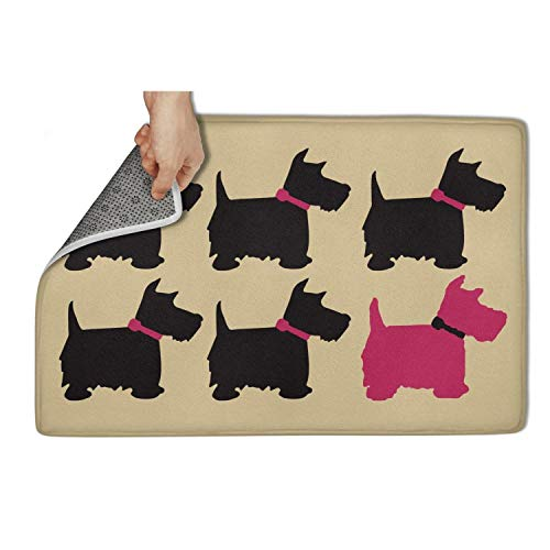 QAQ Indoor/Outdoor Floormat Scotty Dog Door Mat Durable ()