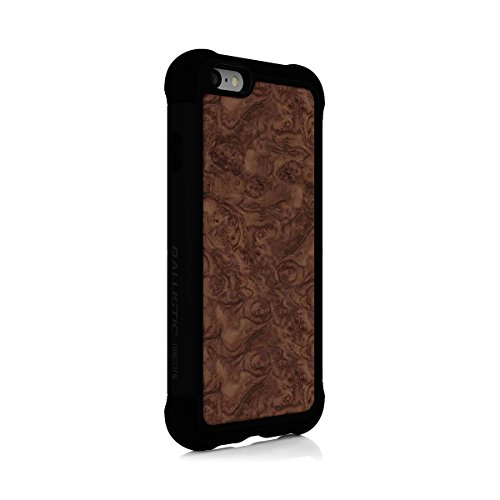 (iPhone 6s Case, Ballistic [Tungsten Tough Series] Ultra Protective 7 Ft.Drop Test Certified Protective Case for Apple iPhone 6 and 6s Burl Wood Design and Black Trim)