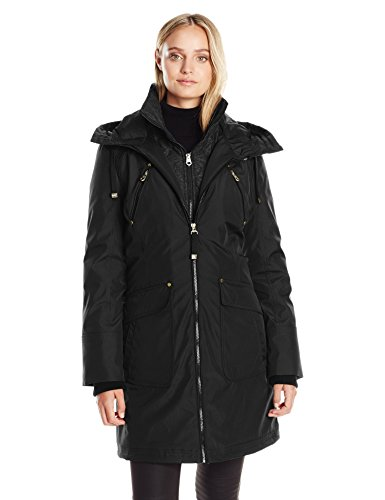 Jessica Simpson Women's Parka, Black, L