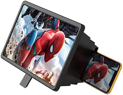 Phone Screen Magnifier 3D HD Enlarger Amplifier Portable for Movies, Videos, and Games, Big View Screen Adjustable Cell Phone Stand, Compatible for Smartphone