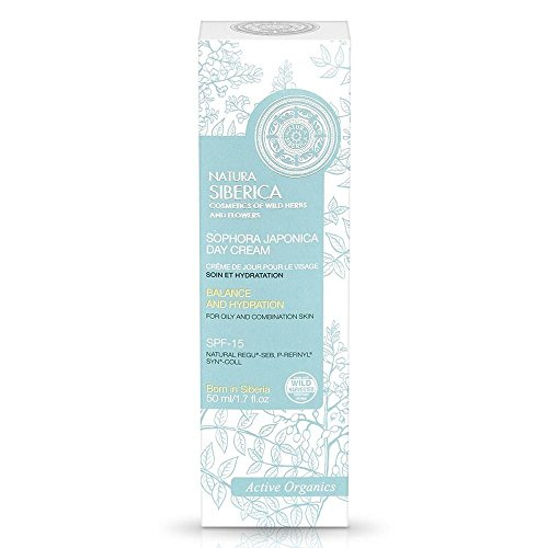 Siberica Active Organics Face Day Cream Care and Rebuilding for Oily/Combination Skin, 1.69 Fluid Ounce
