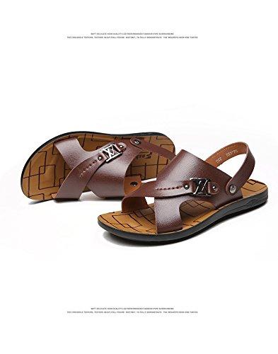 estate Il nuovo Uomini Spiaggia scarpa fibra Uomini sandali moda traspirante Tempo libero Uomini scarpa ,Marrone,US=7,UK=6.5,EU=40,CN=40