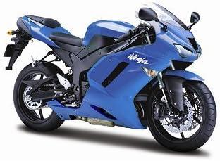 Amazon.com: 2007 Kawasaki Ninja ZX-6R 1: 12 Azul: Toys & Games
