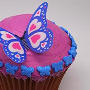 Natural Edible Sapphire Blue Nuts Dairy Soy Gluten Gmo Sugar Free Glitter by Quality Sprinkles (UK) Ltd.